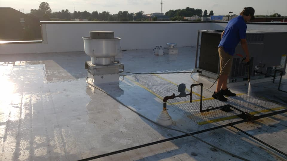 Every inch of your property is important. But your building's roof takes the cake. It sets the stage for a professional, long-lasting brick-and-mortar location. Grime Stoppers offers roof cleaning services that will protect the curb appeal and quality of your roof so you can get the best success out of your business.
